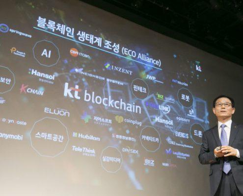 IoT blockchain Korea KT